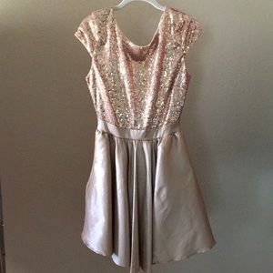 Champaign Color Shimmer Dress